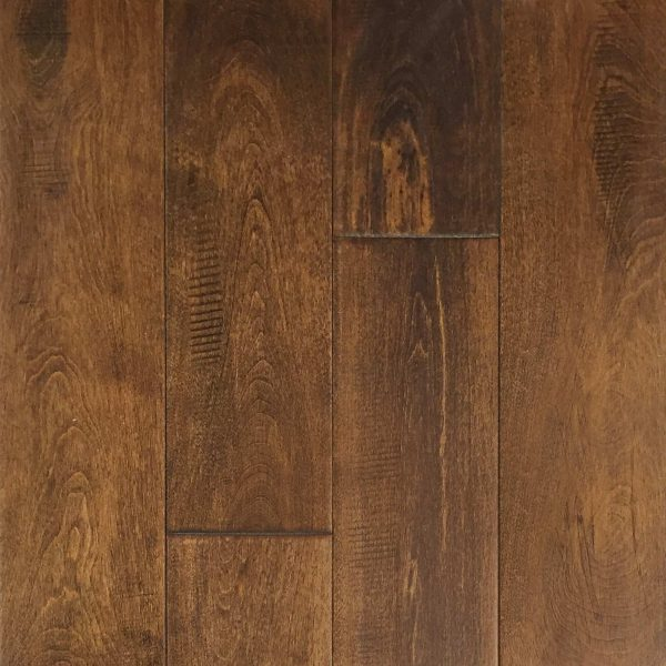 "Hardwood Canada Solid Maple Handscraped & Distressed 4-3/4"" x 3/4"" French Roast"