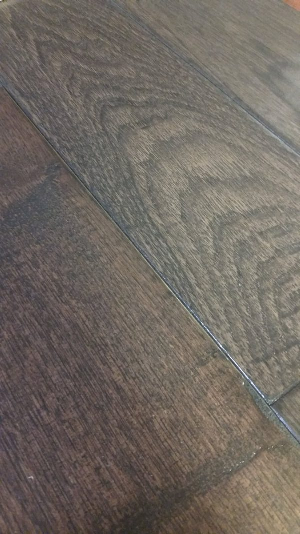 Hardwood Canada Hanscraped & Distressed Hickory Charcoal