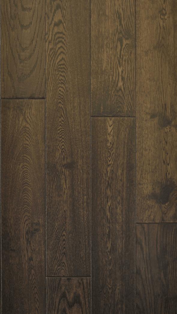 Hardwood Canada Hanscraped & Distressed Oak Black Brown