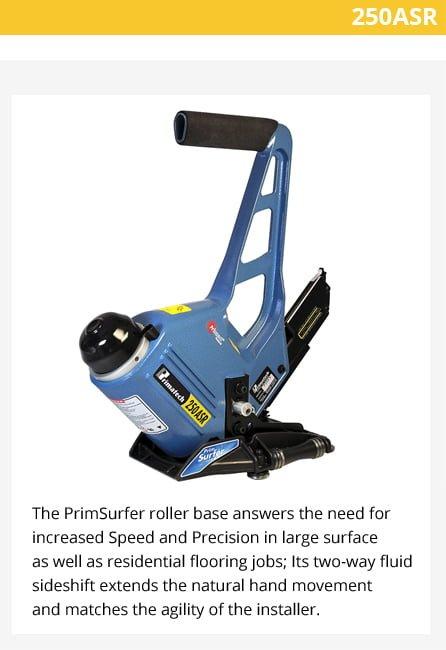 Primatech P250ASR Pneumatic Stapler w/Roller Base